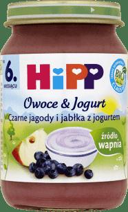 HIPP Czarne jagody i jabłka z jogurtem BIO (160g)
