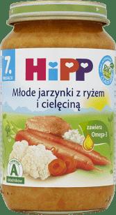 HIPP Młode jarzynki z ryżem i cielęciną BIO (220g)