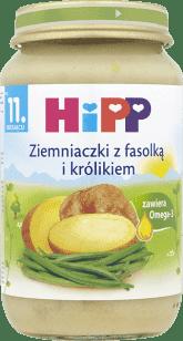 HIPP Ziemniaczki z fasolką i królikiem (220g)