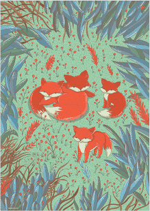 LULLALOVE Plakát Lišky