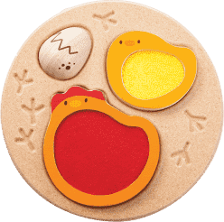 PLAN TOYS Puzzle - Životný cyklus kurčaťa