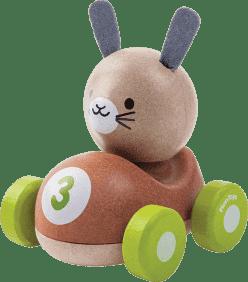 PLAN TOYS Drewniana wyścigówka królik