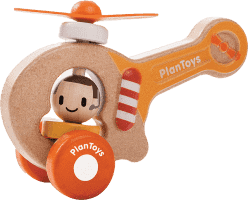 PLAN TOYS, Helikopter, drewniany