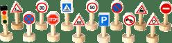PLAN TOYS Drewniane znaki drogowe i światła