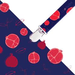 LULLALOVE Multifunkčný skřipec- granátové jablko