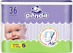 BELLA PANDA Junior 36ks (12-25 kg) - jednorázové pleny