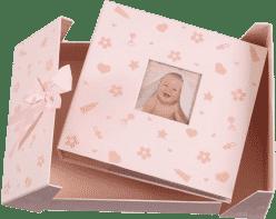 FOTOALBUM różowy BABY NURSERY na 200 fotografii 10 x 15 cm (edycja specjalna)