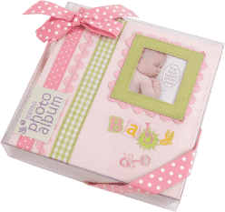 FOTOALBUM ružový Baby Memories pre 180 fotografií 10x15 cm (darčekové balenie