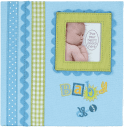 FOTOALBUM modrý Baby Memories pre 180 fotografií 10x15 cm (darčekové balenie)