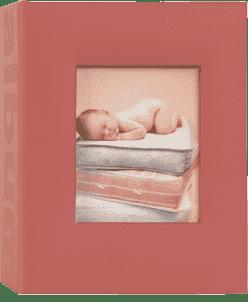 FOTOALBUM červený Love Baby pre 100 fotografií 10x15 cm