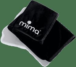 MIMA Prikrývka čierna 75x100 cm