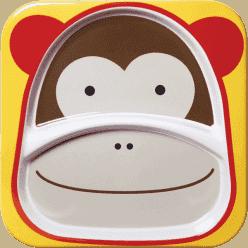 SKIP HOP Zoo Talířek 2v1 - Opička