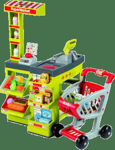 SMOBY Supermarket zeleno-červený