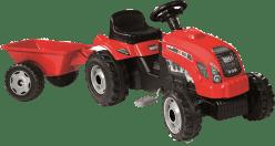 SIMBA Šlapací traktor GM Bull červený s vlekem
