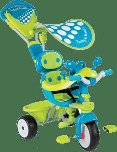SMOBY Rowerek trzykołowy Baby Driver Confort zielono-niebieski daszek