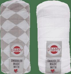 LODGER Multifunkční osuška Swaddler balení 2ks – Shell/White