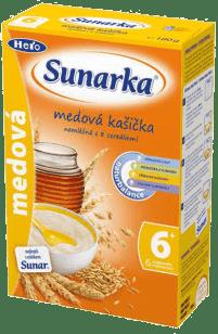 Sunarka medová s 8 cereáliemi (180 g) - nemléčná kaše