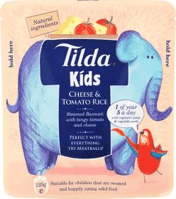 TILDA Dětská rýže - Sýr a rajče - 125g