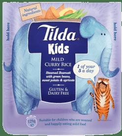 TILDA Dětská rýže - Sladké Curry - 125g