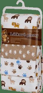 T-TOMI Pieluszki z materiału, zestaw 4 szt., małpki