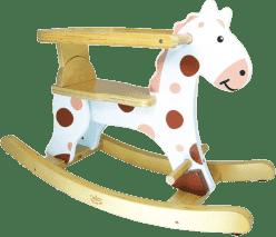 VILAC Drewniany koń na biegunach - biały