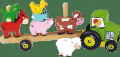 VILAC Dřevěná hračka - Traktor se zvířátky - nasazování