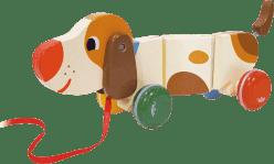 VILAC Drevená hračka - Drevený ťahacie psík