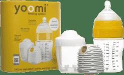 YOOMI Set 3v1 - dojčenská fľaša 240 ml + ohrievač + nabíjačka na ohrievač