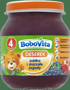 BOBOVITA Jabłka i dojrzałe jagody (125g)
