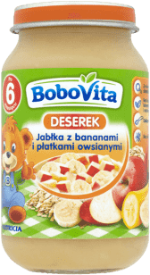 BOBOVITA Jabłka i banany z płatkami owsianymi (190g)