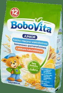 BOBOVITA Kaszka mleczno-wielozbożowa bananowo-pomarańczowa (230g)