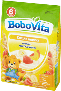 BOBOVITA Kaszka manna o smaku owocowym (180g)