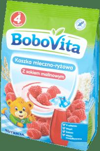 BOBOVITA Kaszka mleczno-ryżowa z sokiem malinowym (230g)