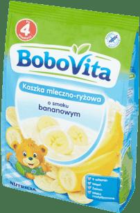 BOBOVITA Kaszka mleczno-ryżowa o smaku bananowym (400g)