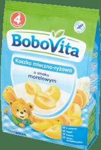BOBOVITA Kaszka mleczno-ryżowa o smaku morelowym(230g)