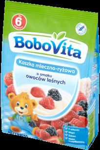 BOBOVITA Kaszka mleczno-ryżowa o smaku owoców leśnych (230g)