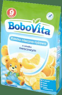 BOBOVITA Kaszka mleczno-ryżowa o smaku owocowym (230g)
