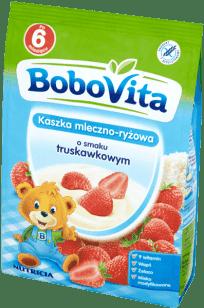 BOBOVITA Kaszka mleczno-ryżowa o smaku truskawkowym (230g)