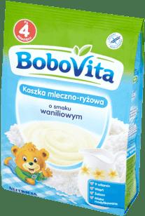 BOBOVITA Kaszka mleczno-ryżowa o smaku waniliowym (230g)