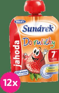 12x SUNÁREK Do ručičky jahoda 90g - ovocný příkrm