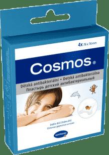 COSMOS náplast dětská antibakteriální 7,6cm x 7,6cm (4 ks)