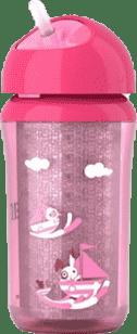 AVENT Kubek termiczny ze słomką 260ml różowy
