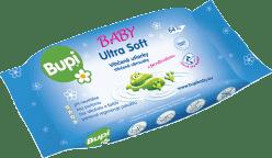 BUPI Ultrasoft Chusteczki nawilżane 64 szt.