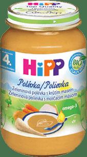 HIPP BIO Zeleninová polievka s morčacím mäsom (190 g)