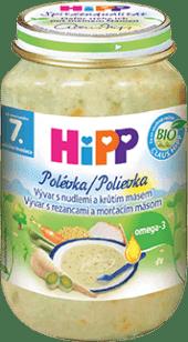 HIPP BIO Vývar s rezancami a morčacím mäsom (190 g)