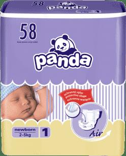 BELLA PANDA Newborn 58ks (2-5 kg) - jednorázové pleny