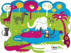 FEEDO Ramka z magnesem Dżungla – Feedo klub