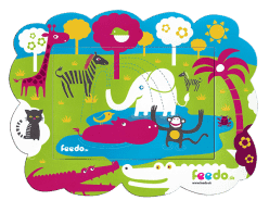 FEEDO magnetický rámček Džungľa – Feedo klub