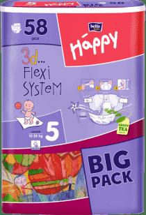 Bella HAPPY Junior (12-25 kg) Big Pack 58 szt. - pieluszki jednorazowe