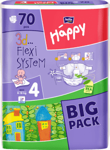 Bella HAPPY Maxi (8-18 kg) Big Pack 70 szt. - pieluszki jednorazowe